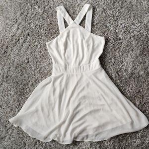 White Charlotte Russe Mini Dress Junior's Small
